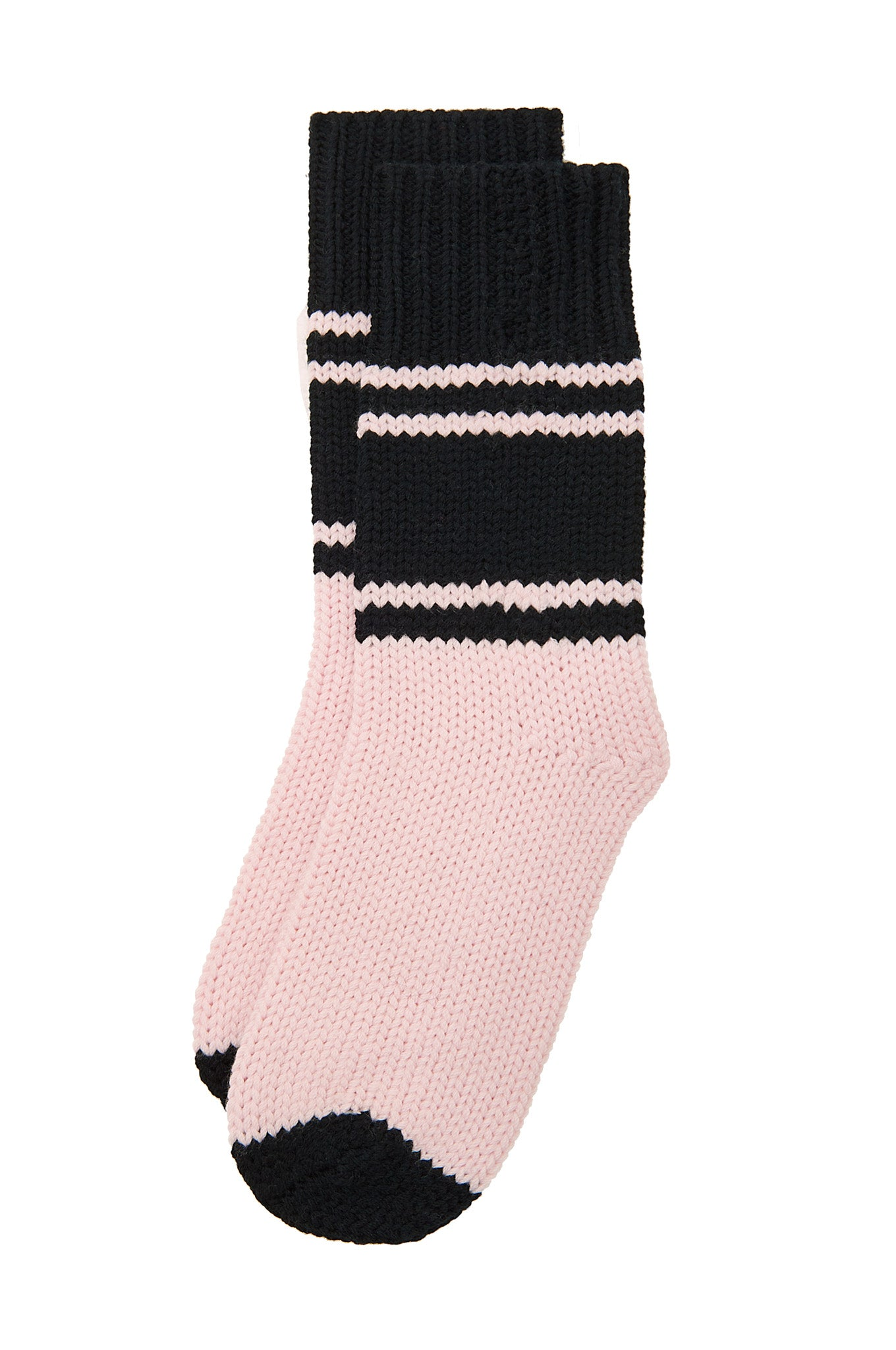 CABIN Black & Shell Merino Wool Socks