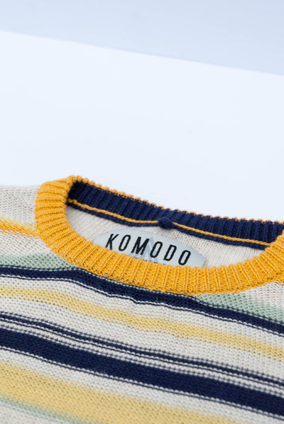 CARLI Organic Linen Top Stripes - Komodo Fashion