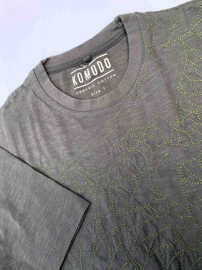 DRAGON Organic Cotton Tee Coal