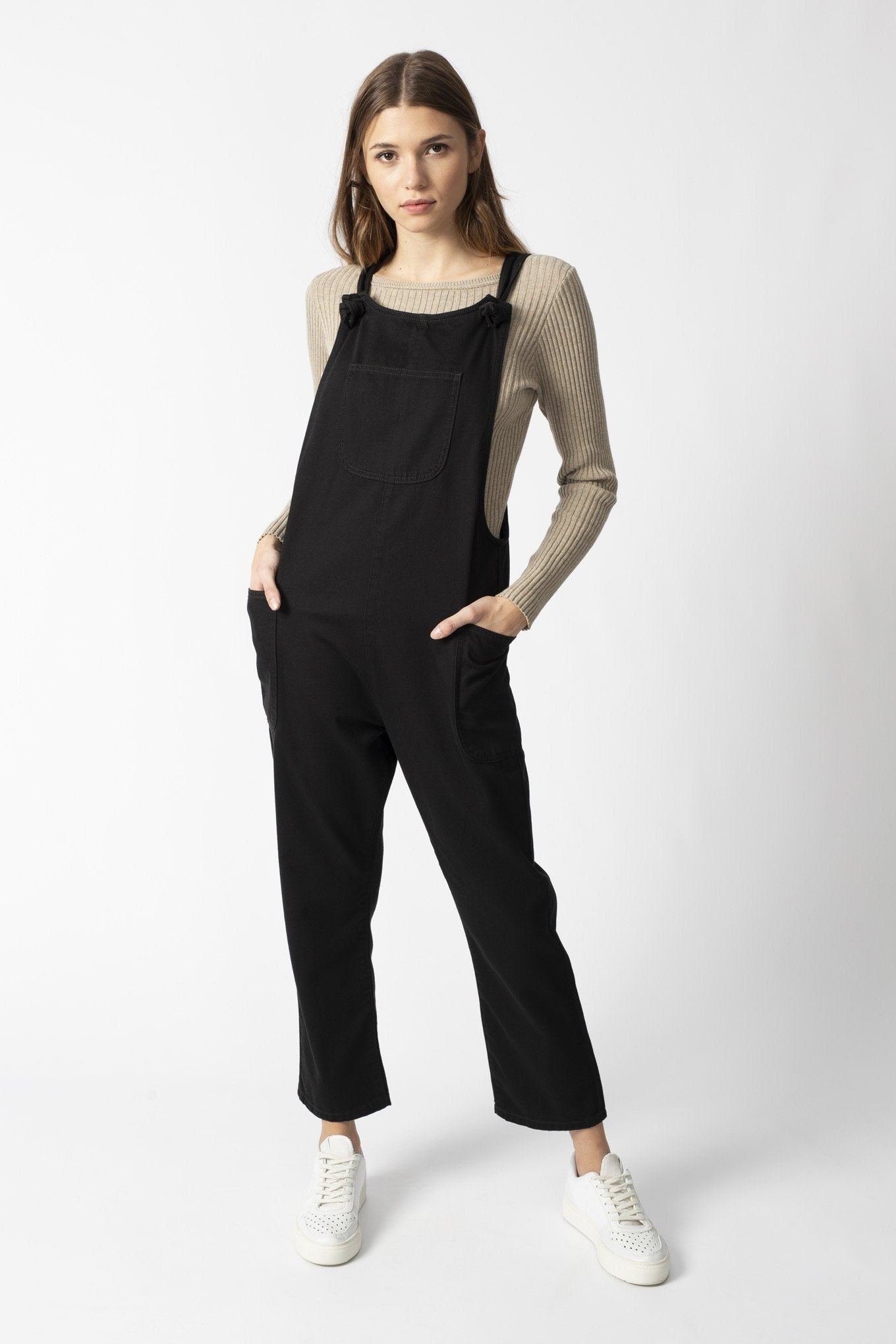 DUNGAREES black organic cotton Jeans by UCM - Komodo Fashion