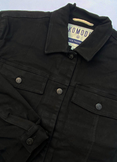 EVEL FLEECE Organic Cotton Jacket Coal
