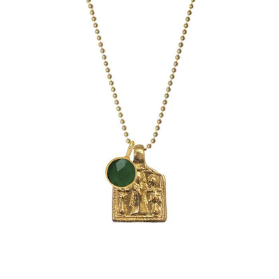 GODDESS LAKSHMI PENDANT WITH ASTRO EMERALD