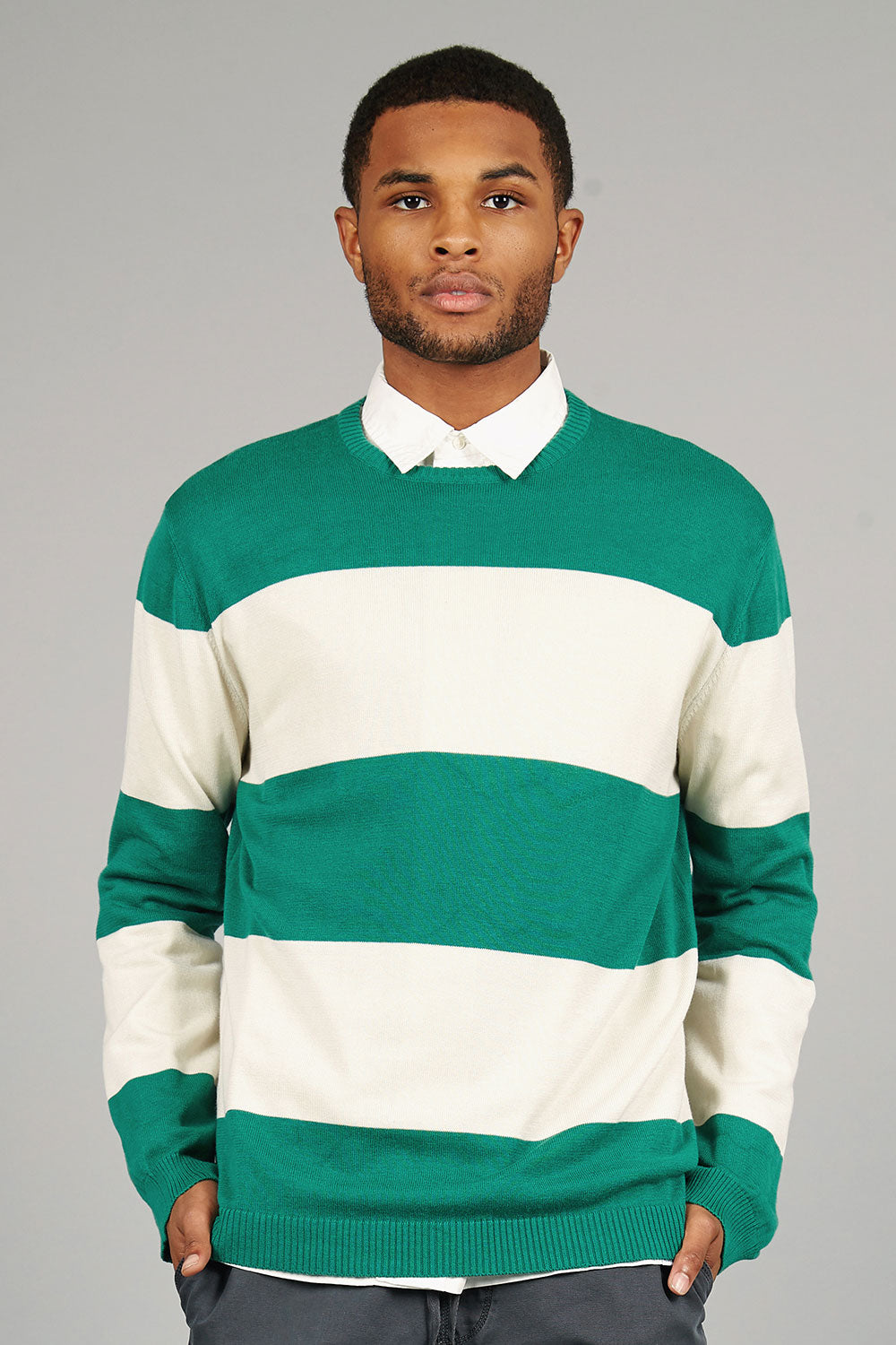 GUY Organic Cotton Jumper Emerald