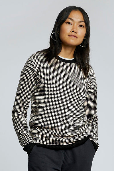 HANA - GOTS Organic Cotton Jumper Black/Shell
