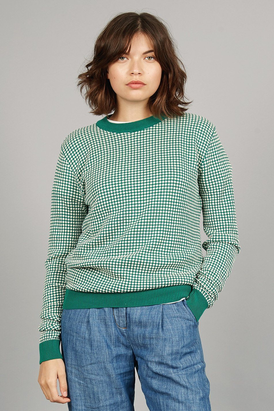 HANA Organic Cotton Jumper Emerald - Komodo Fashion