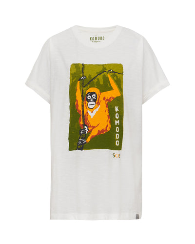 KIN - JUNGLE BROTHER - GOTS Organic Cotton Tee Off White