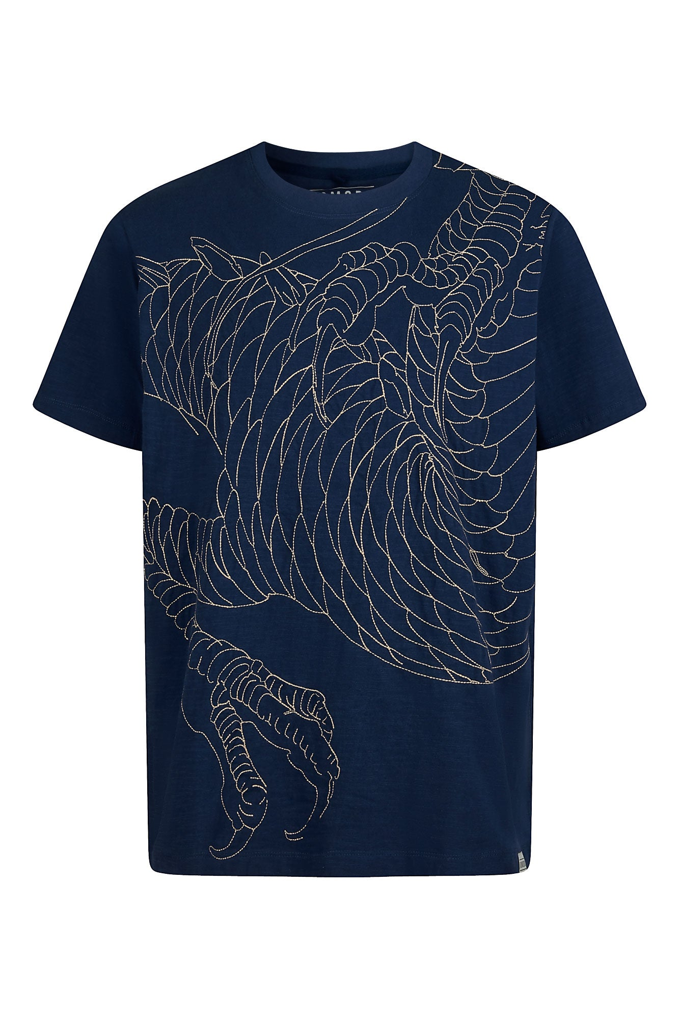 DRAGON - GOTS Organic Cotton Tee Indigo