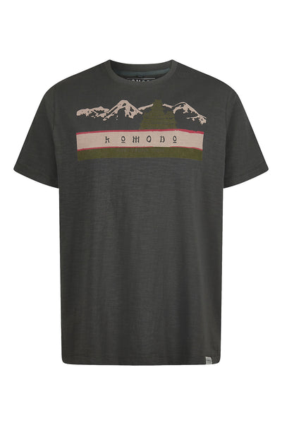 TEMPLE - GOTS Organic Cotton Tee Coal
