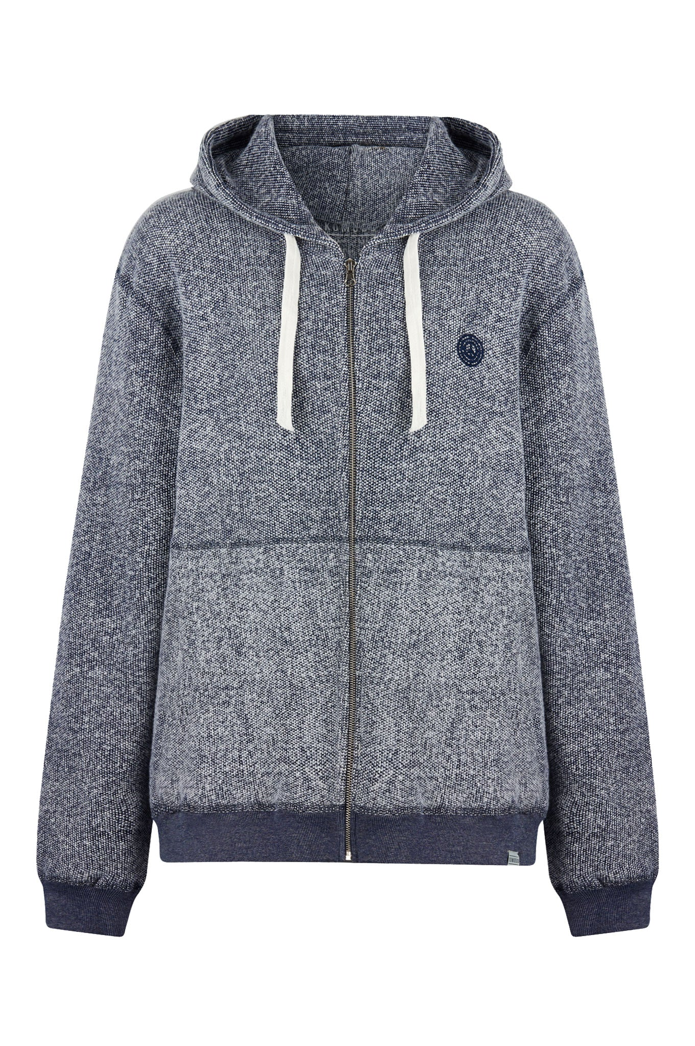 SYDNEY Organic Cotton Zip Through Indigo Melange