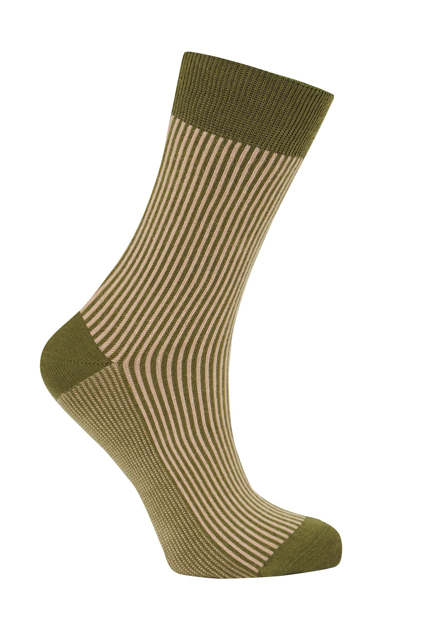 VERTICAL Olive - GOTS Organic Cotton Socks