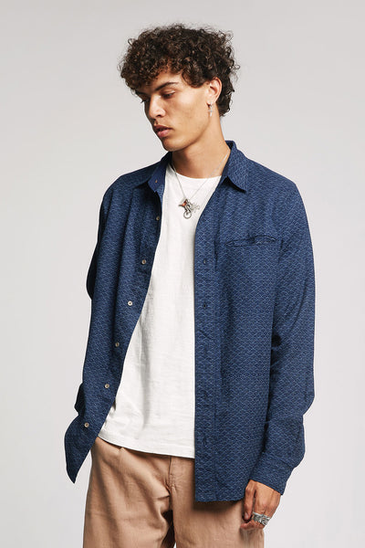 JAPAN Organic Cotton Shirt Indigo