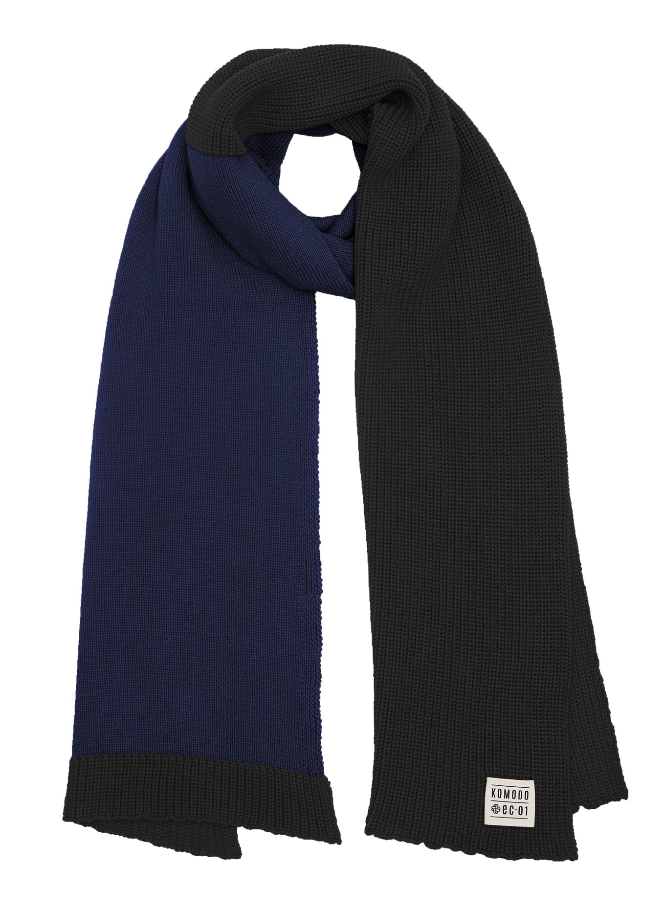 EVIE - GOTS Organic Cotton Scarf Ink & Black