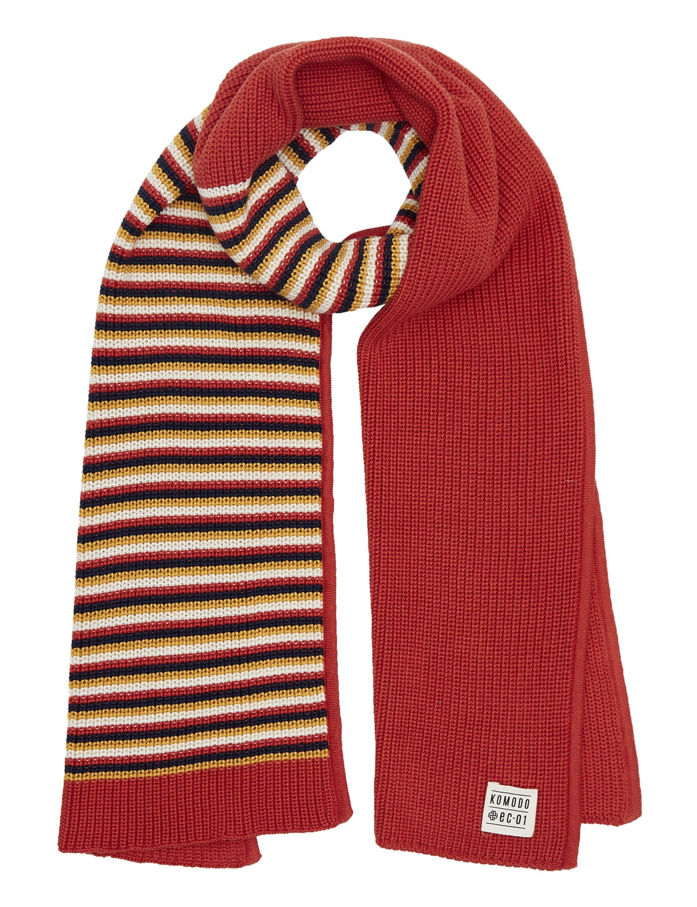 VINCENT - GOTS Organic Cotton Scarf Lava Stripes