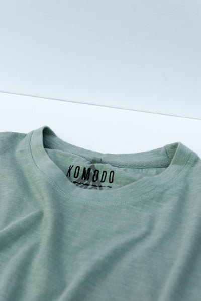 KIN SASHIKO Organic Cotton Tee - Komodo Fashion