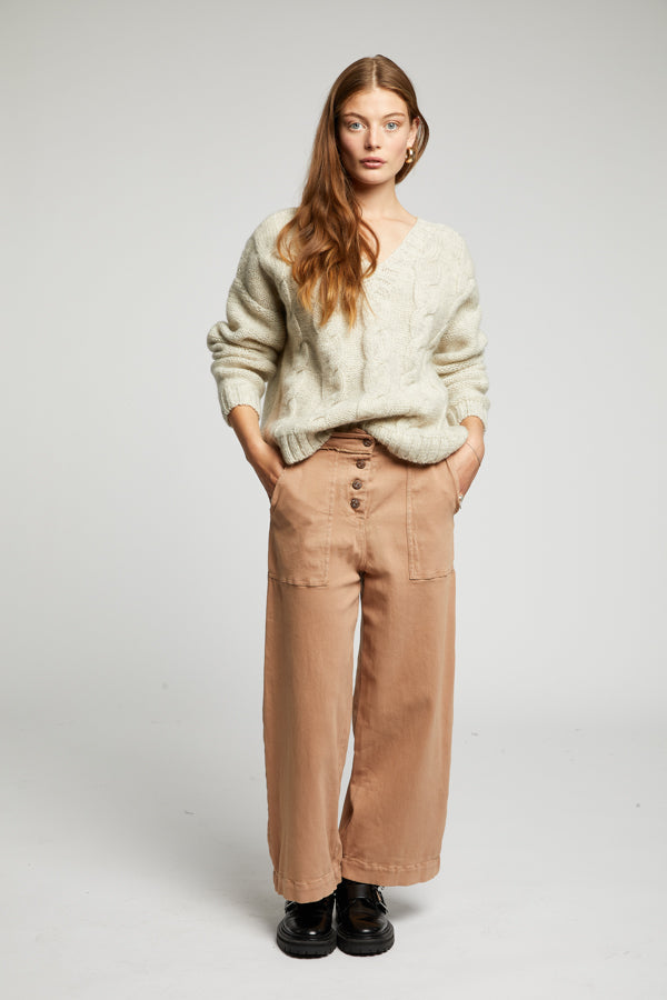 HOLY COW Organic Cotton Culottes Dark Sand
