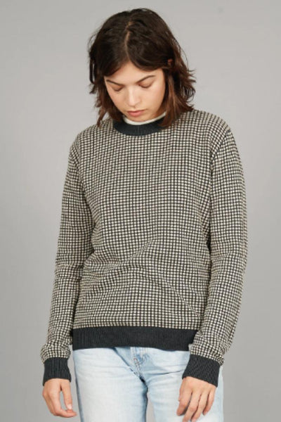 HANNA Organic Cotton Jumper Coal & Oatmeal - Komodo Fashion