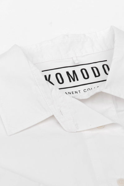 KIMONO Organic Cotton Shirt White - Komodo Fashion