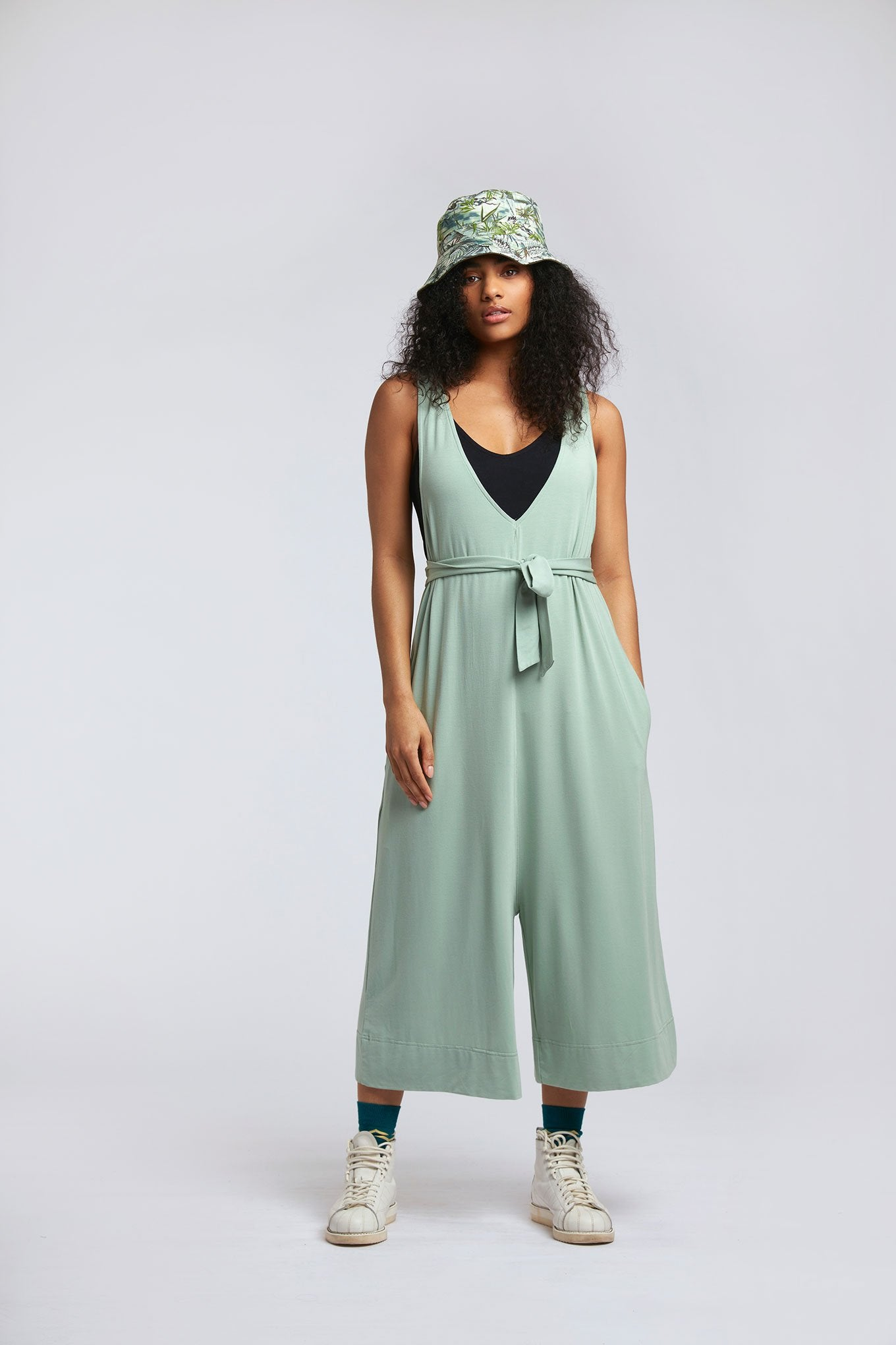 MOLLIE Modal Jumpsuit Seagrass