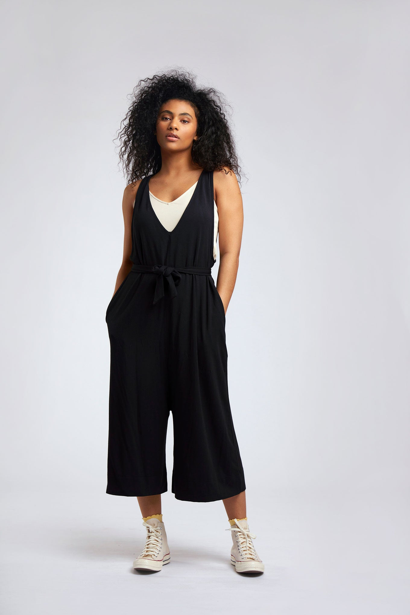 MOLLIE Modal Jumpsuit Black