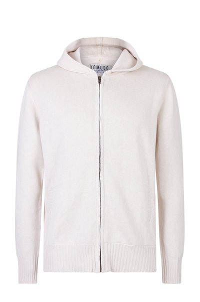 NIYO Organic Cotton Zip Through Bone