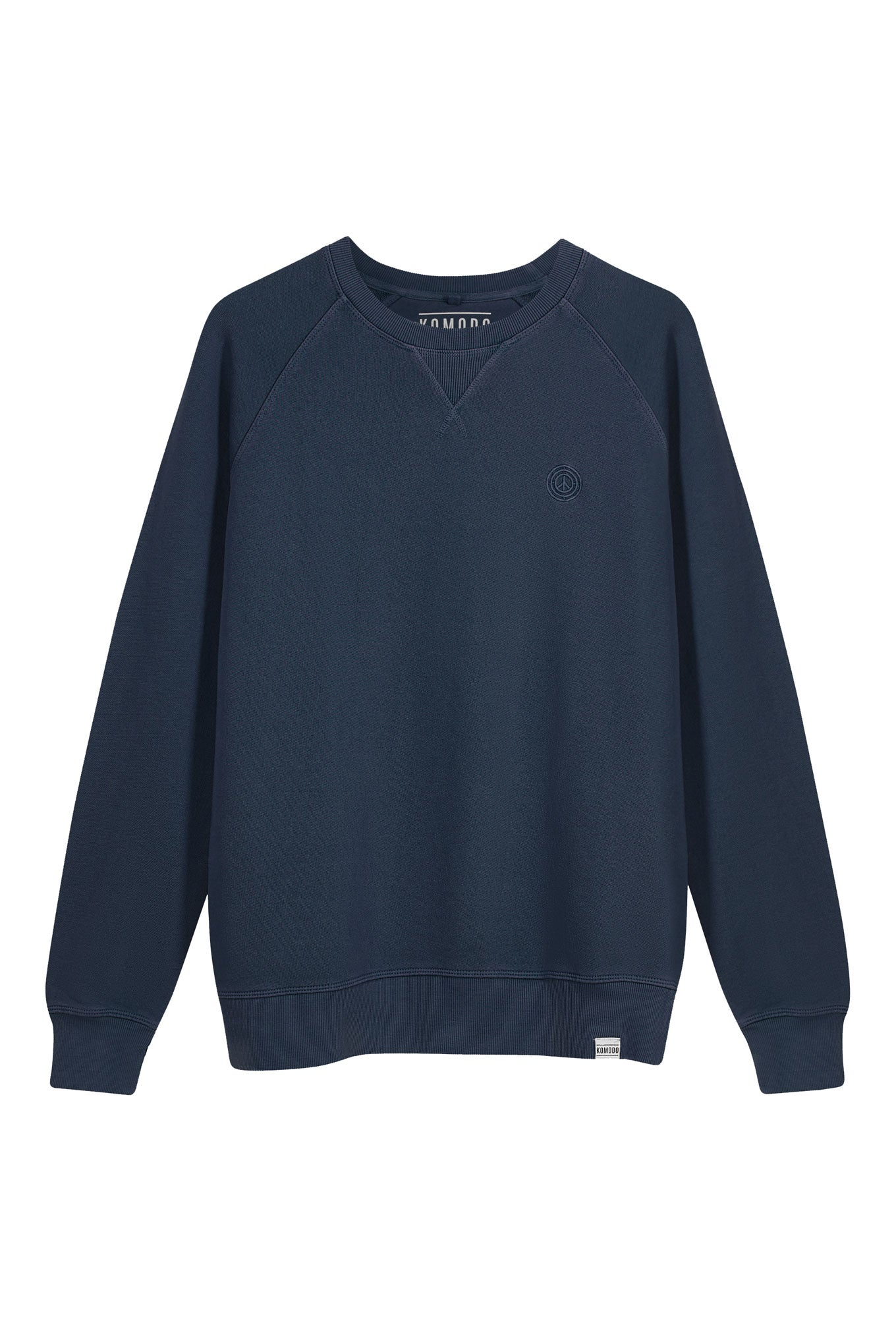 ANTON Mens Organic Cotton Crewneck Navy