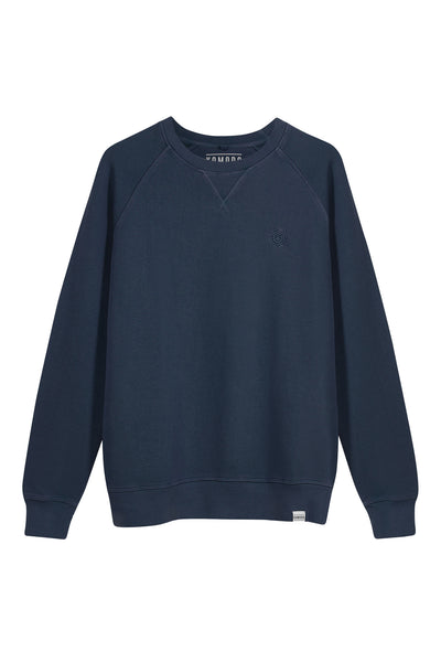 ANTON Mens - GOTS Organic Cotton Crewneck Navy