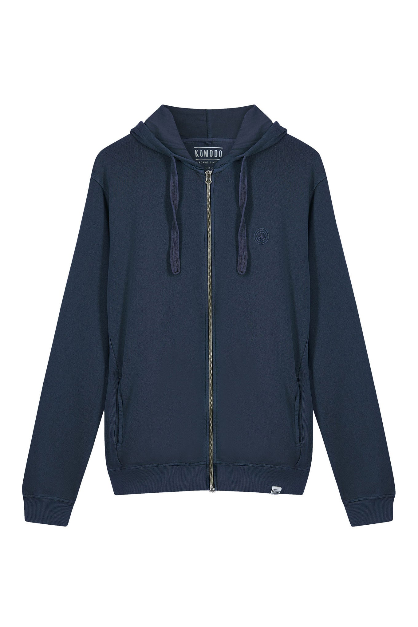 APOLLO Womens Organic Cotton Zip Hoodie Navy