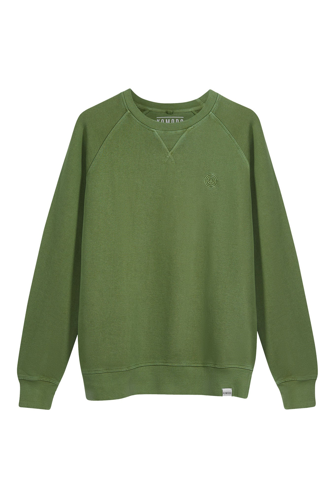 ANTON Womens Organic Cotton Crewneck Olive