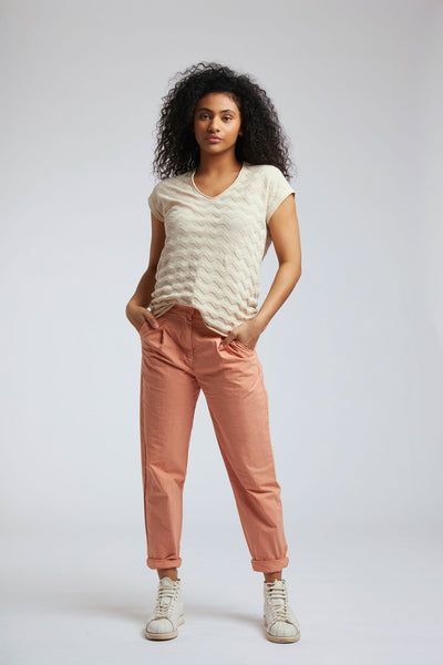 POLLY Linen Top Warm Sand