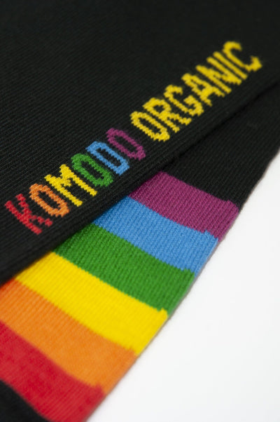 PRIDE Black Organic Cotton Socks - Komodo Fashion