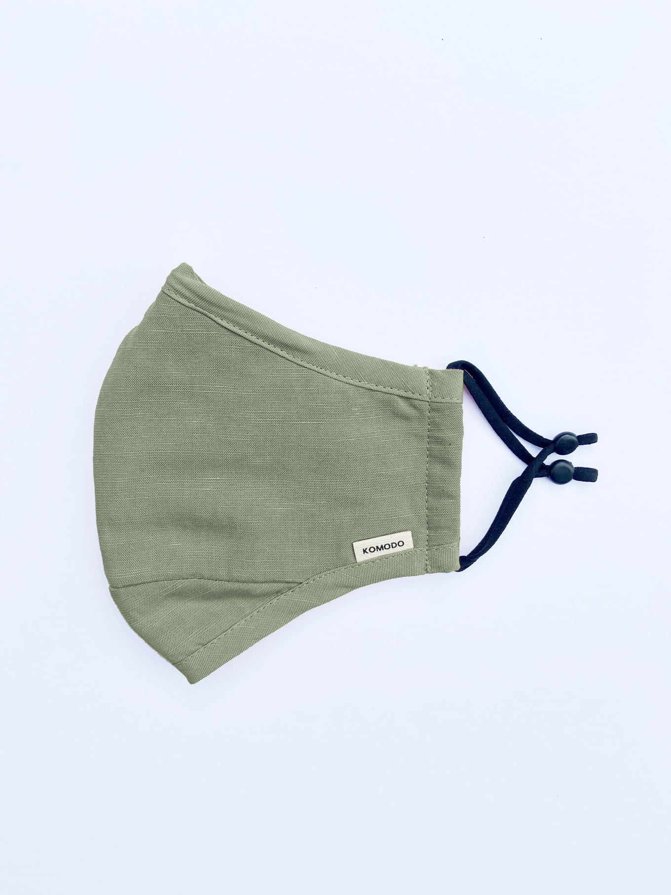 REUSABLE FACE FABRIC FACE MASK - SAGE GREEN