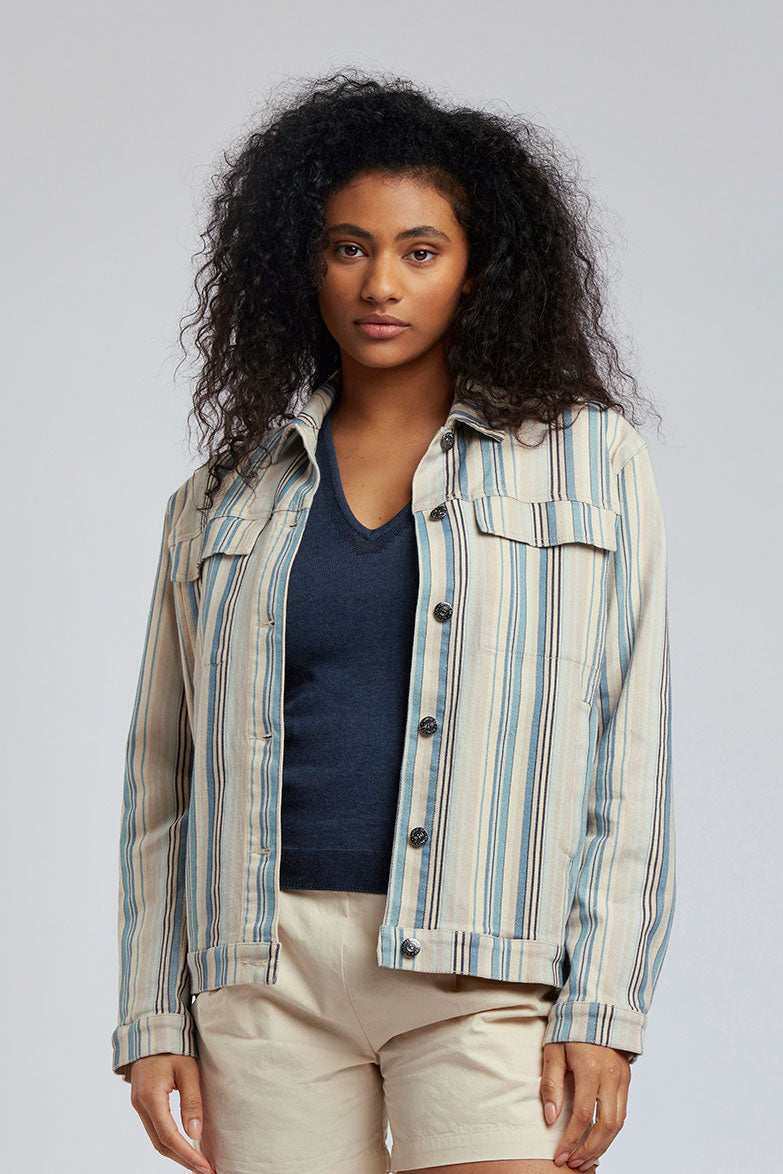 SKY GARDEN - Organic Cotton Jacket Blues