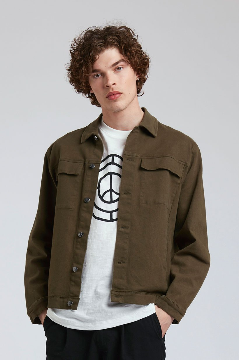 SKY GARDEN - Organic Cotton Jacket Khaki