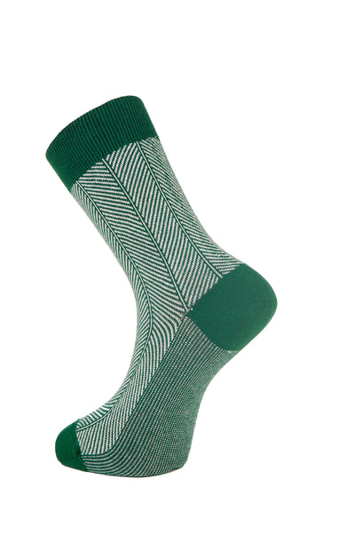 HERRINGBONE Emerald Organic Cotton Socks