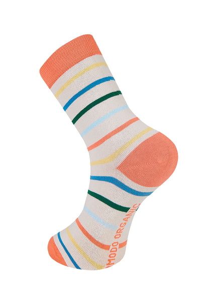 STRIPES Warm Sand Organic Cotton Socks