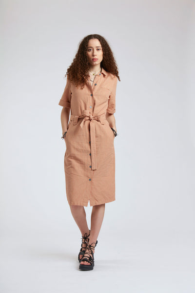 SUN - Organic Cotton Dress Lava