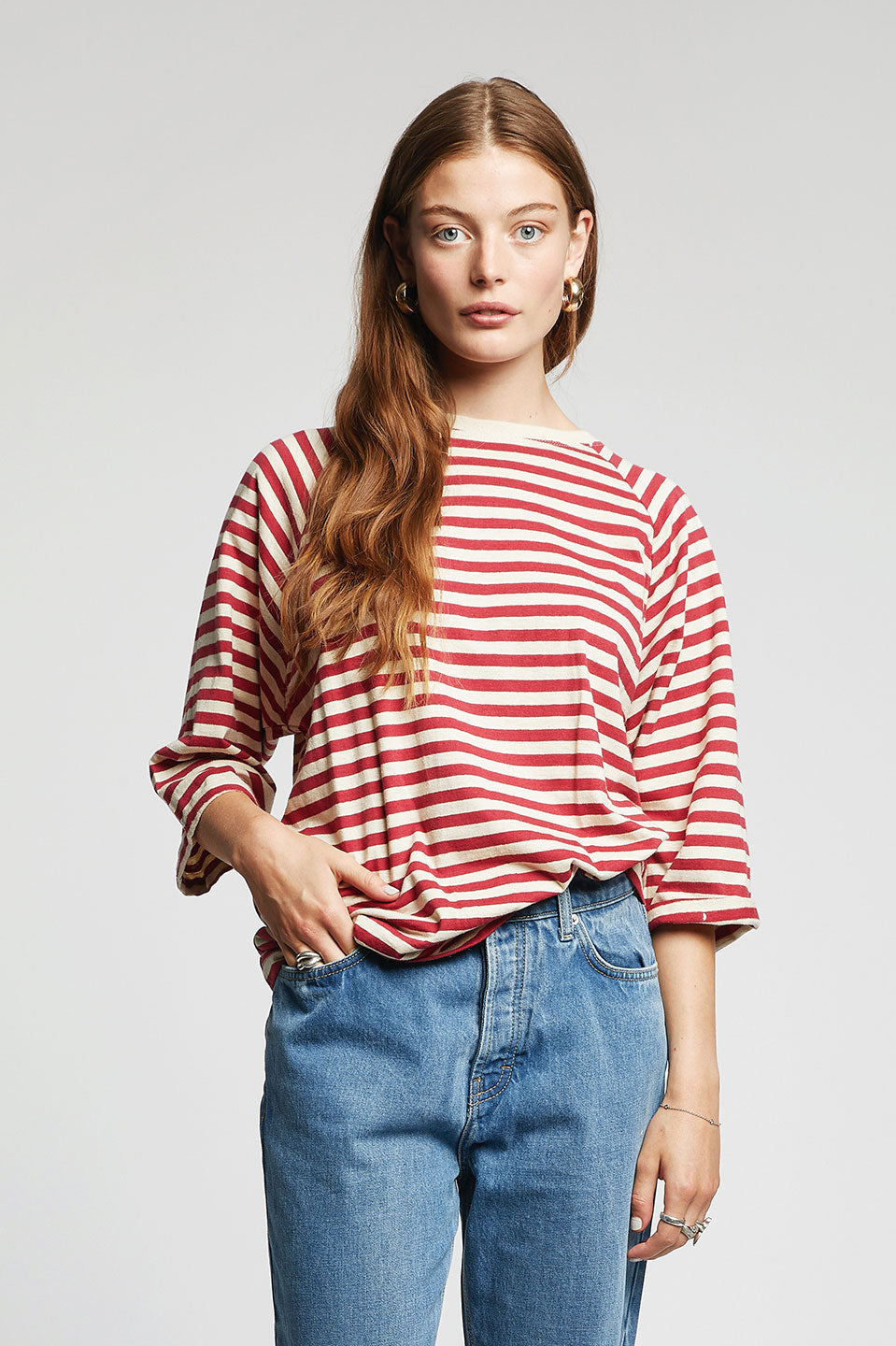 SUNSET Organic Cotton & Hemp Top Burnt Red
