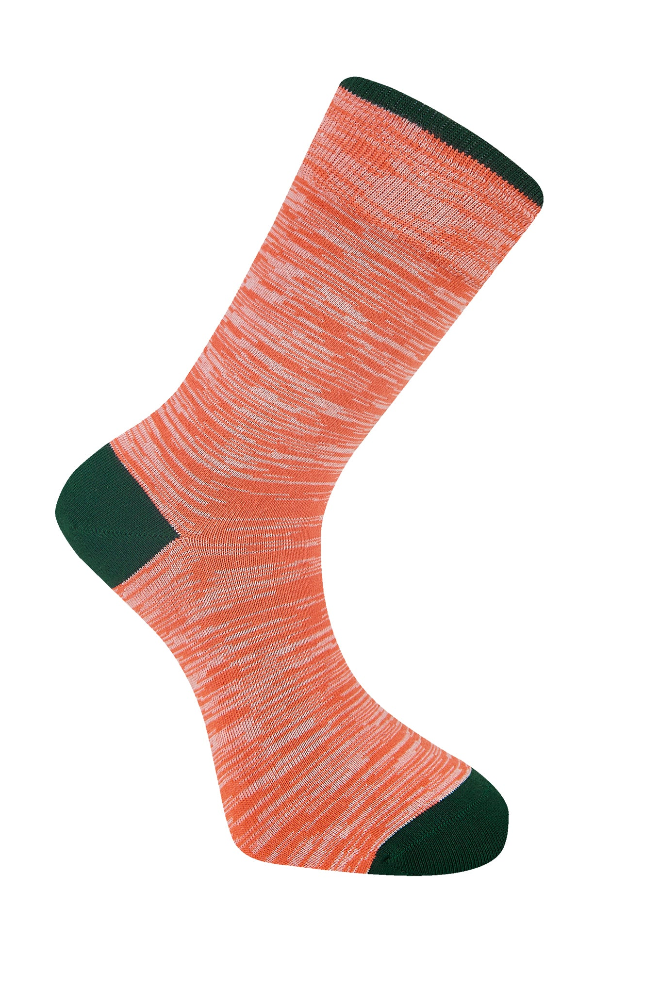 Space Dye Coral Organic Cotton Socks