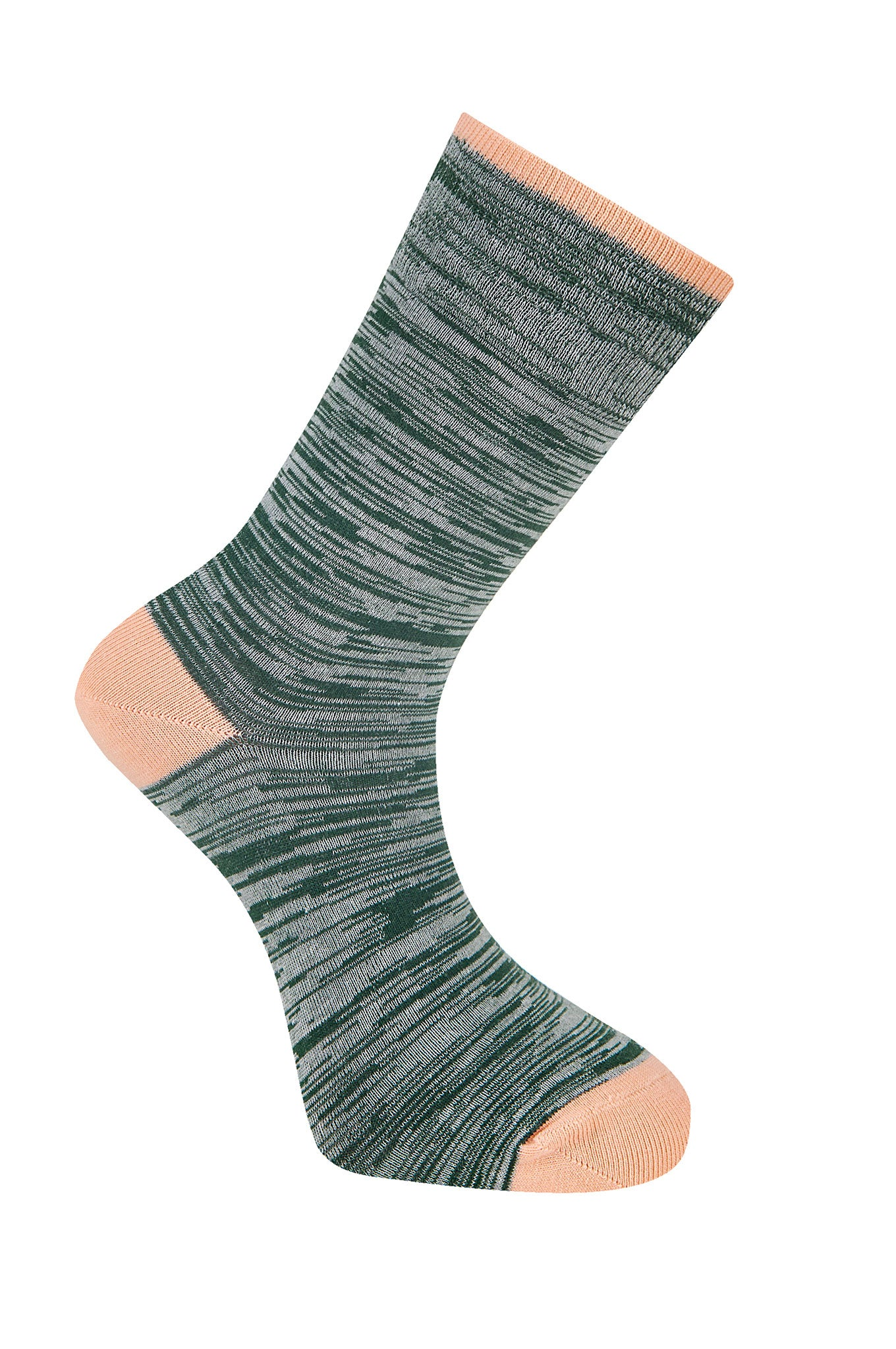 Space Dye Emerald Organic Cotton Socks