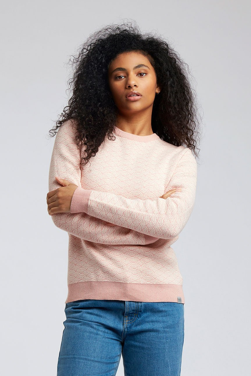 TARA - GOTS Organic Cotton Jumper Sea Pink