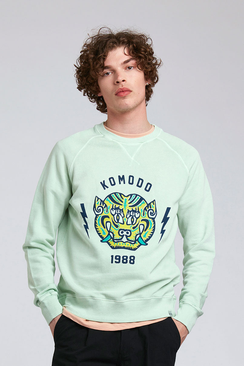 TIGER - GOTS Organic Cotton Crew Neck Jade