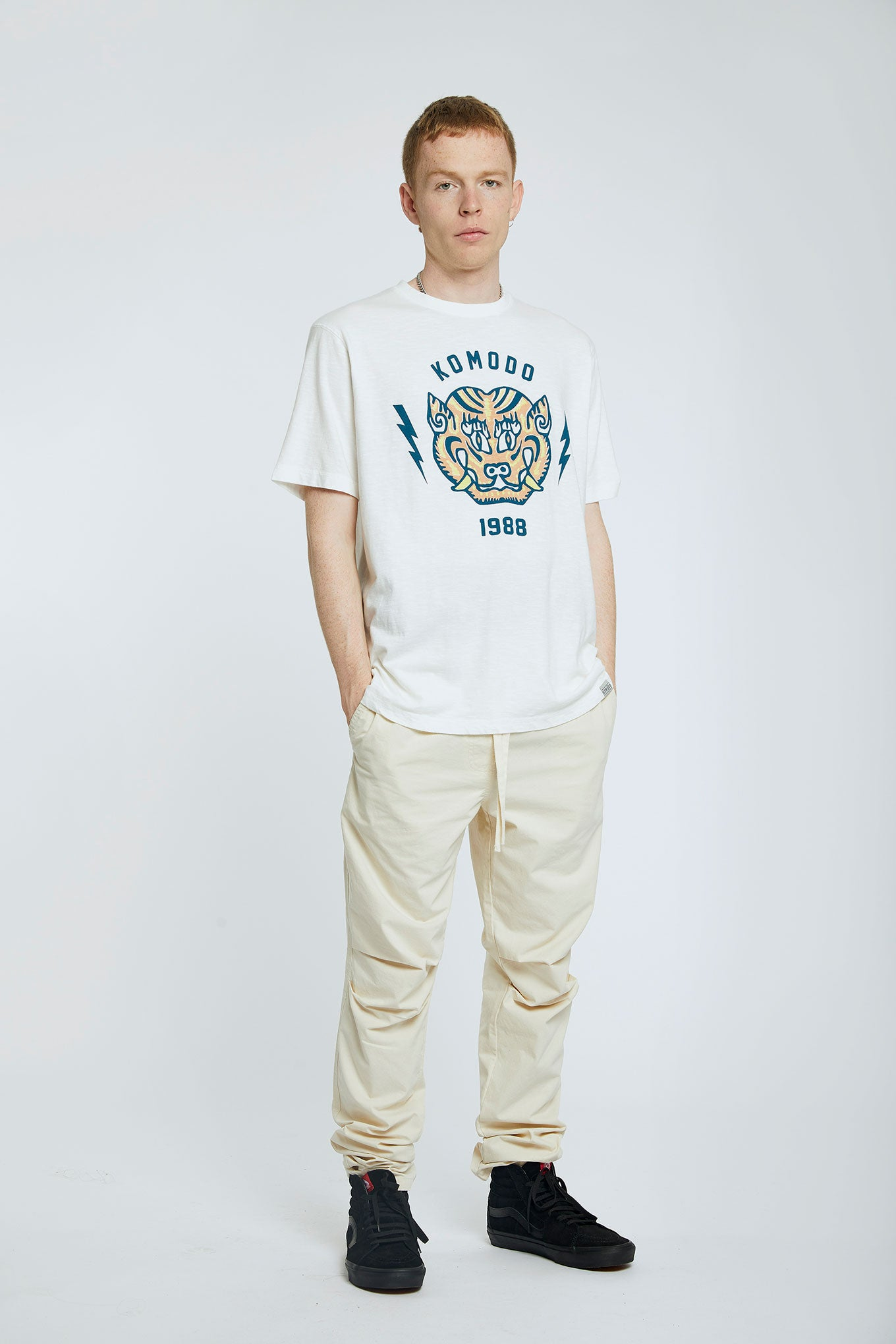 KIN - TIGER - GOTS Organic Cotton Tee Off White
