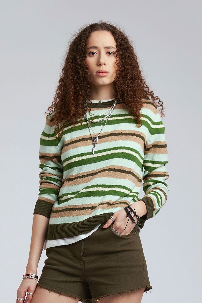 TRIP - GOTS Organic Cotton Jumper Lime