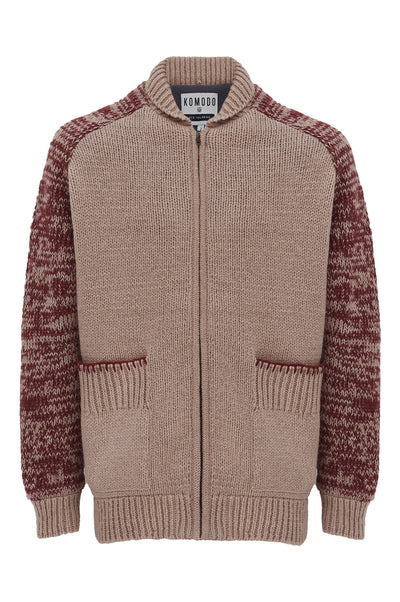 TUNDRA Lambswool Jacket Burnt Red