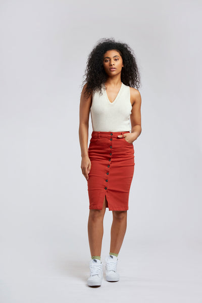 SUNDARA - Organic Cotton Skirt Lava