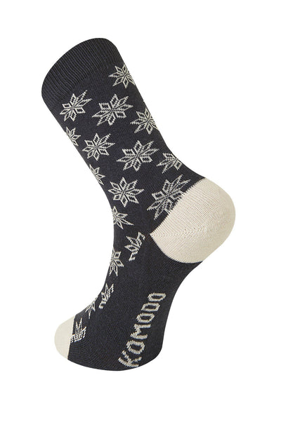 CHRISTMAS Eve Coal Organic Cotton Socks - Komodo Fashion