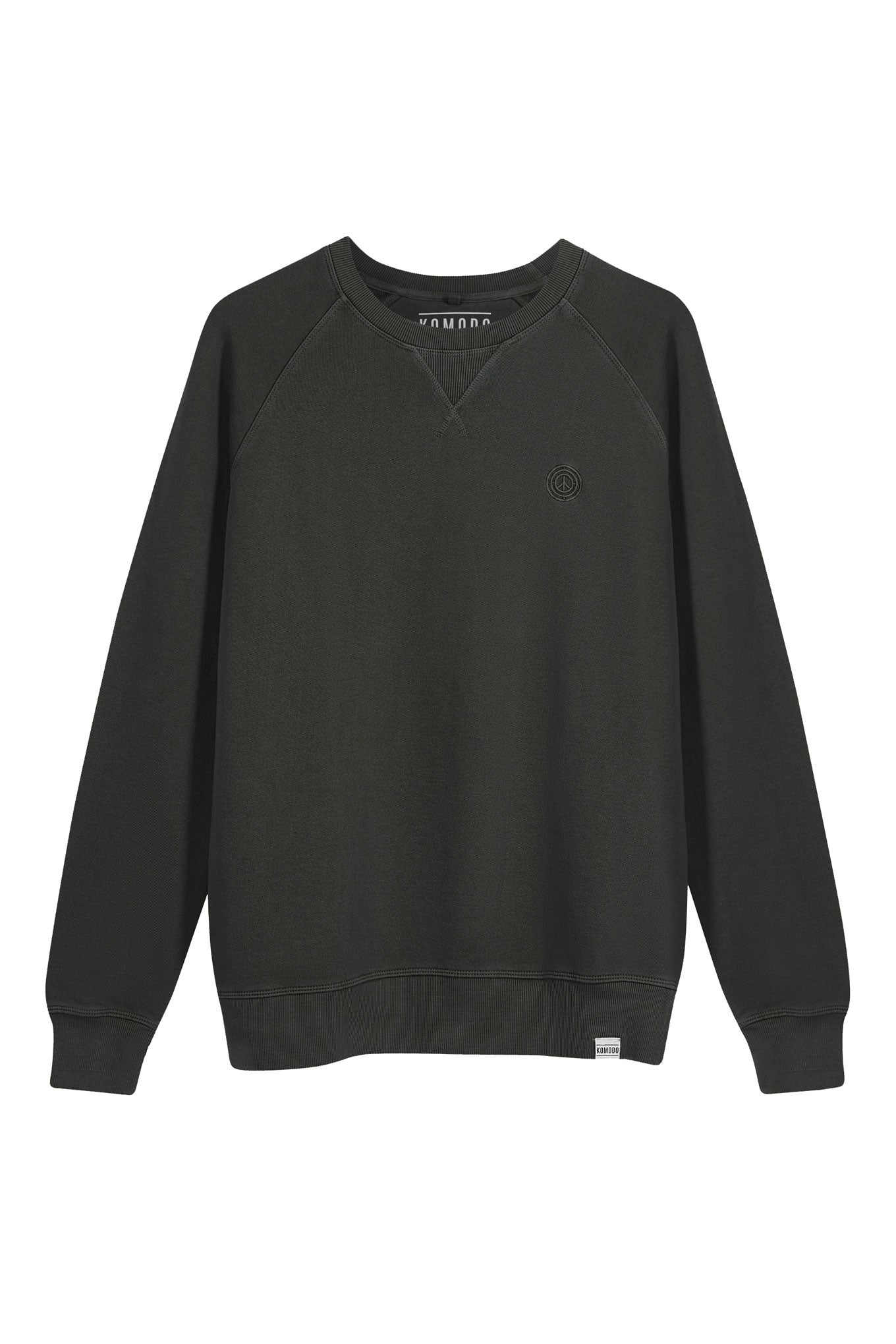 ANTON Mens Organic Cotton Crewneck Black