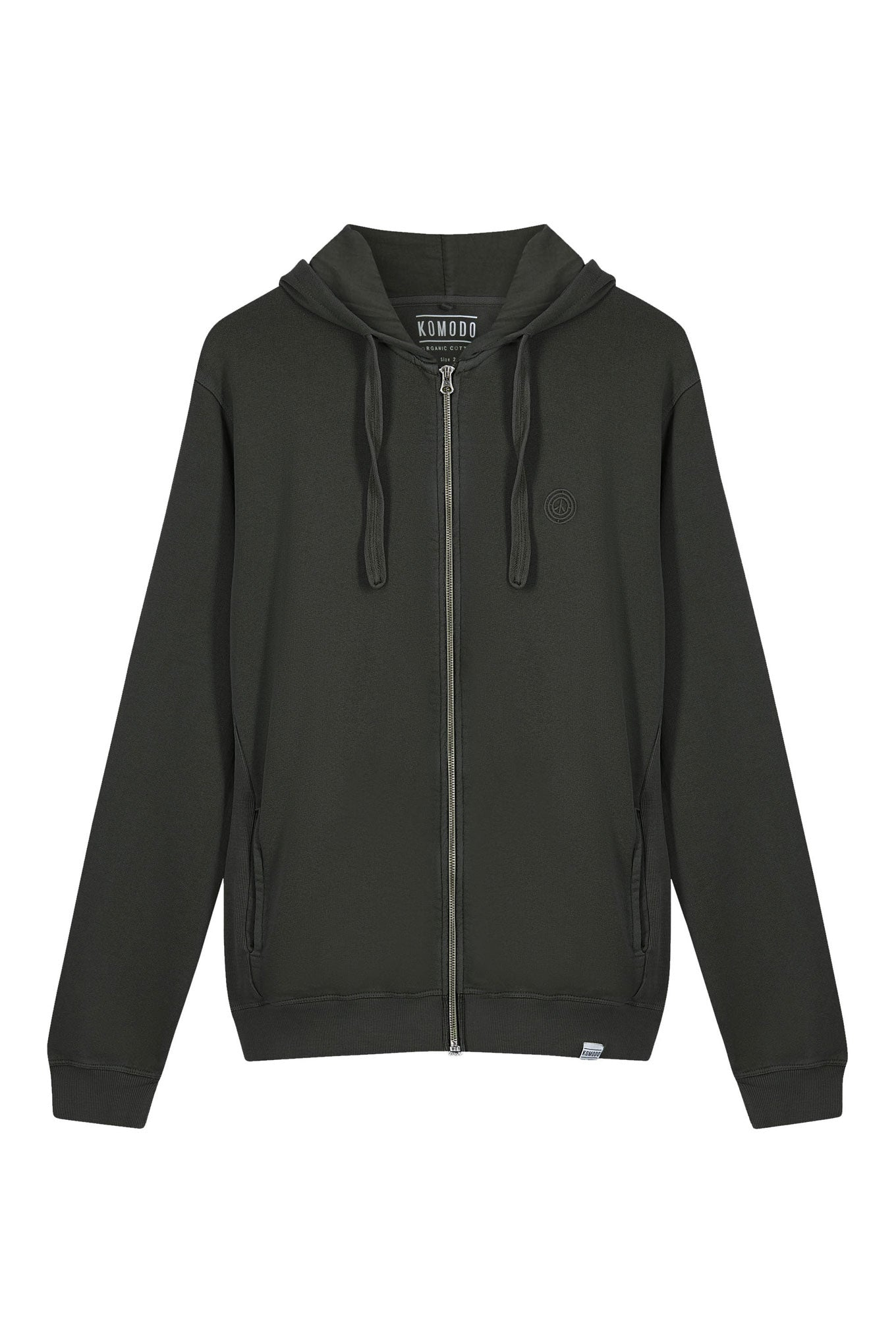 APOLLO Mens Organic Cotton Zip Hoodie Black