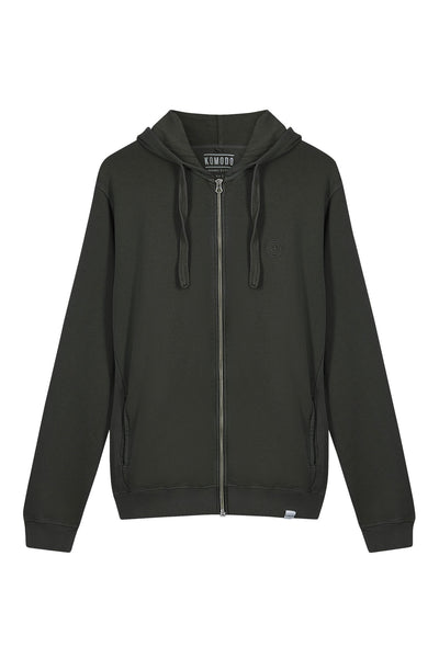 APOLLO Womens - GOTS Organic Cotton Zip Hoodie Black