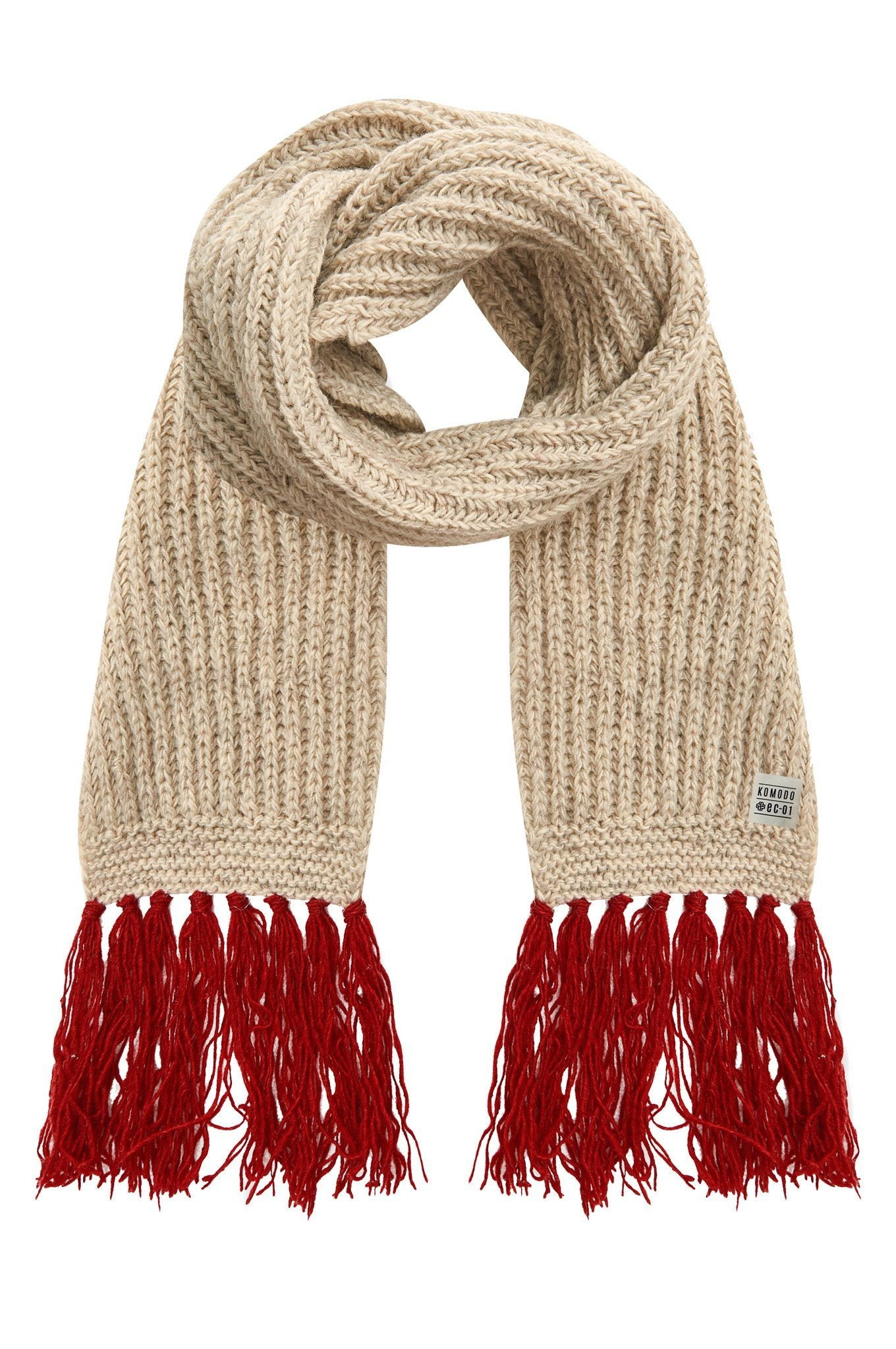Accessories - LIZZIE Recycled Wool Scarf Oatmeal